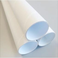 Tubos de cartón blanco