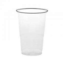 Vaso de plástico transparente