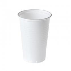 Vaso de plástico blanco