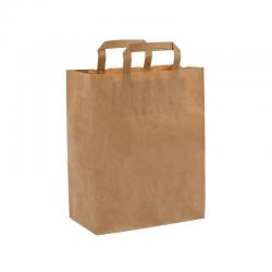 Bolsa de papel con asas kraft