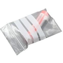 bolsa de polietileno con bandas