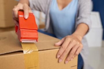 precintadora de cajas manual