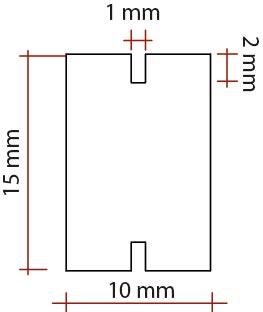 Barra de baquelita 10x15 sección H
